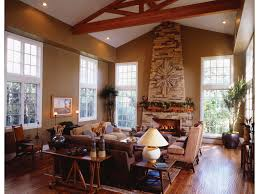 Earth Tone Colors For Living Room Traditional Design Living Room Timber Accents Fireplace Stone