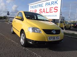 volkswagen fox 2006 used volkswagen fox yellow for sale motors co uk