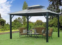 Metal Pergolas With Canopy by Sunjoy Rolla 10 Ft W X 12 Ft D Metal Permanent Gazebo U0026 Reviews