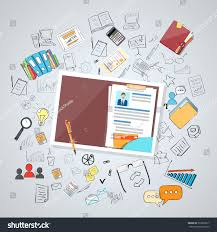 human resource documents curriculum vitae recruitment stock vector
