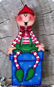 tole painting adorable elf shelf sitter noel pinterest