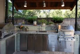 Outdoor Kitchen Granite Countertops Exterior Design Kitchen Track Lighting In Cool Transitional Patio