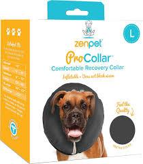 zenpet zencollar inflatable recovery dog u0026 cat collar large