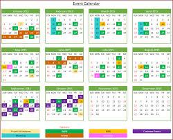 blank event calendar