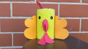 diy toilet paper tube rooster easy crafts for kids youtube