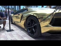 gold chrome lamborghini aventador overkill gold wrapped lamborghini aventador pulled by cops