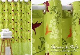 Designer Shower Curtain Designer Shower Curtain With Snap On Grommets Sew4home