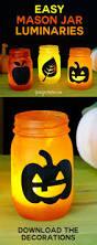 easy mason jar luminaries for autumn and halloween candy corn