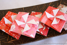 origami pinwheel envelopes a spoonful of sugar