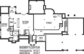 5 Bedroom Floor Plans With Basement 10000 Square Foot Cool House Floor Plans 6 Bedroom 2 Story Dream Home