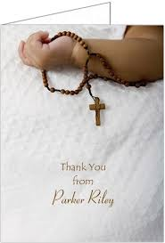 gift of the lord baptism christening thank you cards storkie