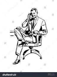 vintage martini clipart man office chair retro clip art stock vector 56906806 shutterstock
