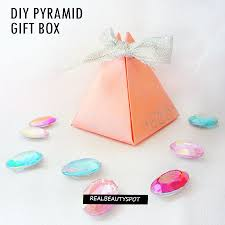 where can i buy boxes for gifts diy easy paper pyramid gift box theindianspot