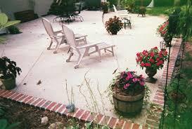 Backyard Concrete Ideas Brick On Edges Of Concrete Outdoor Kitchen U0026 Fireplace