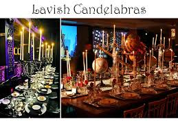 floral wedding reception table centerpieces candelabras and lots