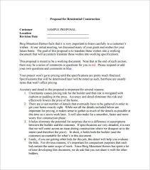 construction proposal template best business template