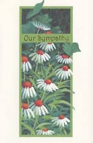 popular greetings sympathy bereavement card with sorrow