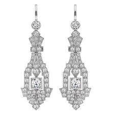 diamond chandelier earrings deco diamond chandelier earrings for sale at 1stdibs