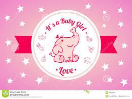 sweet baby shower invitation card design stock vector image