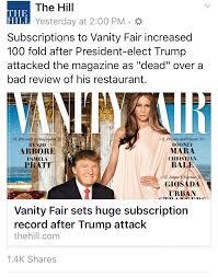 Cancel Vanity Fair Subscription Donald J Trump On Twitter