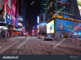 times sq new york snow snow stock photo 366496043 shutterstock