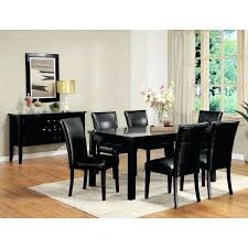 black dining table and chairs ikea dolce piece x dining room set