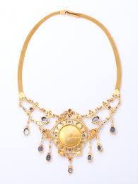 sapphire pearl necklace images Antique 19th century italian renaissance pearl sapphire gold jpg