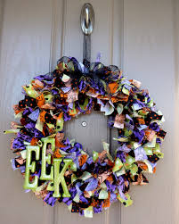 sassy sanctuary halloween rag wreath