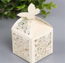 best quality wedding favor box print laser cut paper bags small
