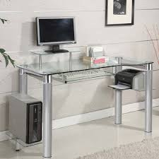Computer Desk Ebay by Innovex Clear Tempered Glass Modern Style Saturn Desk Ebay