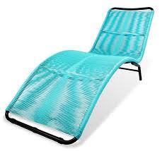 acapulco chaise chaise longue de jardin acapulco fil bleu turquoise 119 salon d été