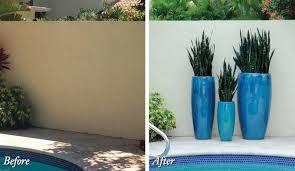 decor beautiful patio with tall outdoor planters u2014 jecoss com
