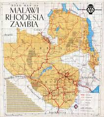 africa map malawi malawi rhodesia and zambia road map malawi africa mappery