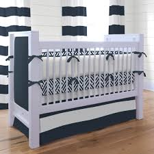 Nursery Bedding And Curtain Sets by Baby Boy Bedding Crib Sets On Navy And White Wave Pattern Also
