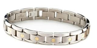 titanium bracelet men images Men 39 s titanium bracelet with 14k gold elements only 349 00