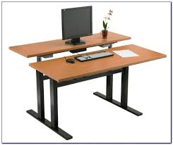 Office Desk Standing by Office Furniture Standing Desk Adjustable Newheights Corner