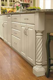 kitchen island leg rope island leg decora cabinetry