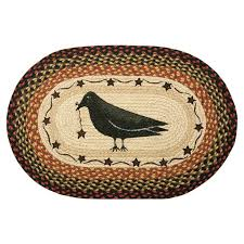 earthrugs crow u0026 star printed area rug u0026 reviews wayfair