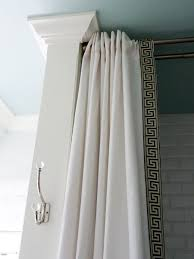 Greek Key Trim Drapes 15 Diy Shower Curtain Projects Anyone Can Make