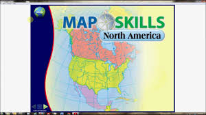North America Physical Map Map Skills North America Interactive Whiteboard Software Youtube