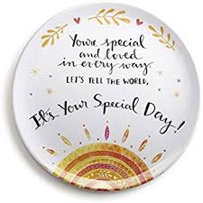 you are special today plate demdaco you re special melamine giving plate