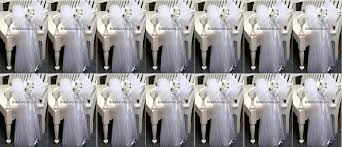 pew bows for wedding set of 14 12 x30 white tulle satin with flowers wedding bows