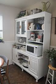 remodelaholic create a kitchen hutch from an 80 u0027s wall unit