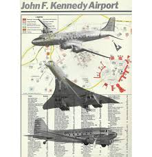 Jfk Terminal Map Jfk Airport Map With Airplanes Concorde Flying Sky Mid
