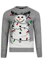 threadbare adults designer led light up 3d christmas jumpers