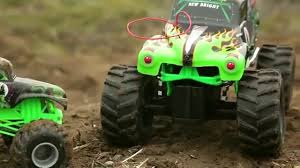 monster truck grave digger toys learn with monster trucks grave digger toy youtube
