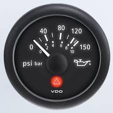 oil pressure warning light vdo viewline onyx 2 1 6 electric gauge w built in warning light
