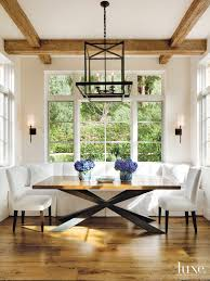 Banquette Seating Dining Room by 16 Intricate Tile Flooring Patterns Luxedaily Design Insight