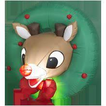Rudolph The Red Nosed Reindeer Christmas Decorations For Outdoors by 4 U0027 Rudolph The Red Nosed Reindeer Airblown Inflatable Outdoor