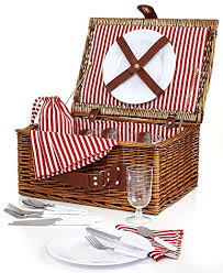 picnic basket set for 4 martha stewart 26 wicker picnic basket set